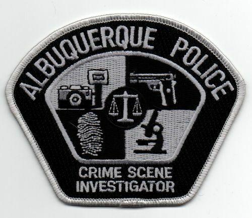 NEW MEXICO NM ALBUQUERQUE POLICE CRIME SCENE INVESTIGATOR SUBDUED PATCH SHERIFF