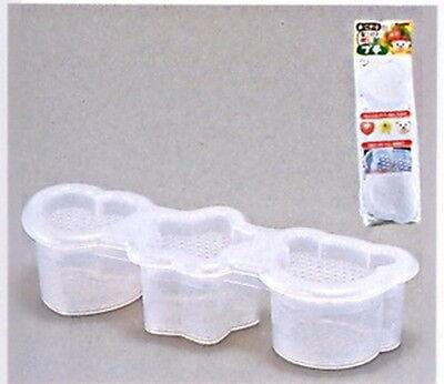 Japanese Sushi Mold Rice Ball Maker 3 Shapes White S-1759 AU