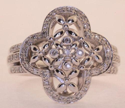 Womens Diamond Cluster Rings Ebay