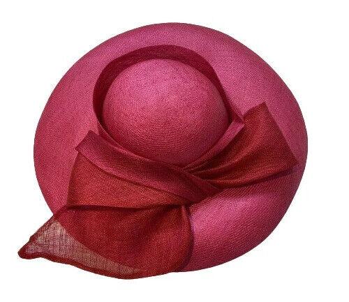 Marzi Firenze Pink Wide Brim Dress Hat Hand Made in Italy HARRODS
