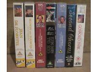 7 VHS VIDEO FILMS :-