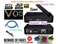 IPTV + VOD Mag250 android smart ip tv Gift 12 Month Best Service Around Call Only Plz no Message