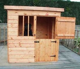 4x4 Wooden Deluxe Dog Kennel Pet House Fully Tongue & Grooved 4FT x 4FT
