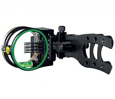 """NEW Trophy Ridge Micro Hit-Man 7 Pin Sight .010"""" w/ Light Fix RH/LH Black"""