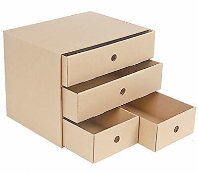 Multi-functional Desktop Drawer Organizer Hardened Kraft Paper Shelf