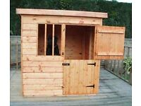Deluxe Dog Kennel 4ft x 4ft fully T&G. HEAVY DUTY KENNEL.