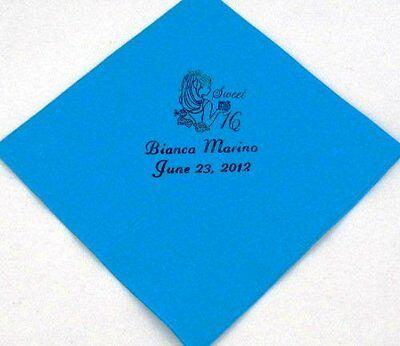 Custom Beverage Napkins (100 Personalized birthday beverage napkins custom printed birthday)