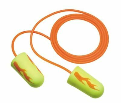 3m Ear Yellow Neon Blasts Foam Ear Plugs 311-1252 With Cord 50 Pair Pack