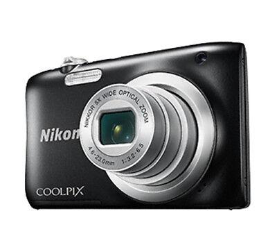 Nikon Coolpix A100 schwarz Digitalkamera 20 MegaPixel HD-Video Blitz 5fach Zoom