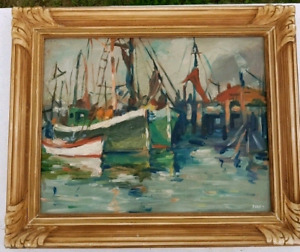 Vintage Oil Painting - Signed Dorn - Wood Frame