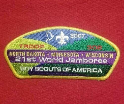 2007  North Dakota-Minn-Wis Troop 302 JSP USA Patch World Jamboree