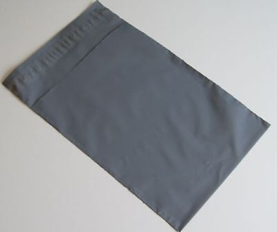 20 Grey Plastic poly Mailing Bags 350 x 525 mm 14 x 21 postal Shoes Box Strong