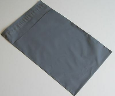 25 Grey Plastic poly Mailing Bags 350 x 525 mm 14 x 21 postal Shoes Box Strong