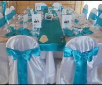 100 satin white chair covers