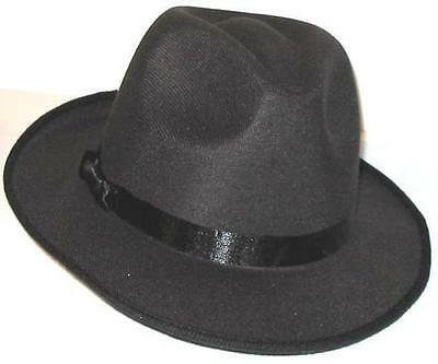 Blue Pimp Hat - 12 BLUES BROTHERS FEDORA HATS - Gangster Gangsta Pimp Black - Free Shipping