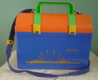 Millennium Dome 2000 Bright Blue/Yellow/Orange/Green Lunchbox Remove Flask Lid