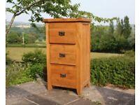 Solid oak filing cabinet