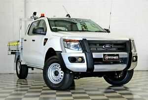 2012 Ford Ranger PX XL 2.2 (4x4) White 6 Speed Manual Crew C/Chas Burleigh Heads Gold Coast South Preview