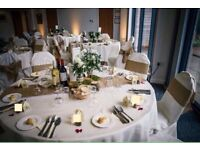 Ivory Table Cloths x 15, round and square - perfect condition