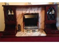 Wood & Marble Fire Surround