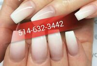 SPECIAL POSE D'ONGLES 25$ ACRYLIC,RESINE,GEL,SHELLAC,PEDICURE EC