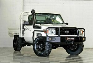 2008 Toyota Landcruiser VDJ79R Workmate White 5 Speed Manual Cab Chassis Burleigh Heads Gold Coast South Preview