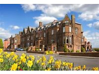 Hotel Receptionist at the Cairndale Hotel & Leisure Club, Dumfries.