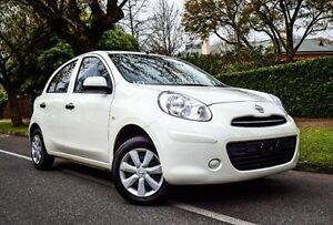 2013 Nissan Micra K13 MY13 ST White 4 Speed Automatic Hatchback Medindie Walkerville Area Preview