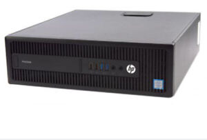 HP Prodesk 600 G2 with monitor, mouse, keyboard