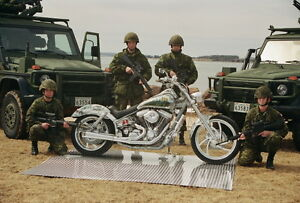Custom Motorcycle with Nitrous & Canadian Military Salute Theme