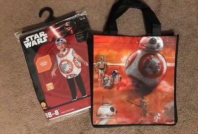 NEW Disney STAR WARS Toddler 3T 4T Robot BB-8 Halloween Costume + Tote Bag Bonus](Toddler Robot Costume Halloween)