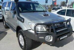 2008 Toyota Hilux KUN26R 08 Upgrade SR5 (4x4) Silver 5 Speed Manual Dual Cab Pick-up Singleton Heights Singleton Area Preview