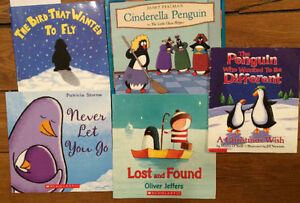 PENGUIN themed children's PICTURE BOOKS $3 each or all 5 for $10