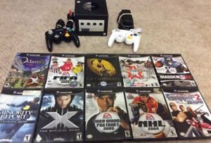 Nintendo Gamecube With 2 Controllers and 10 Games
