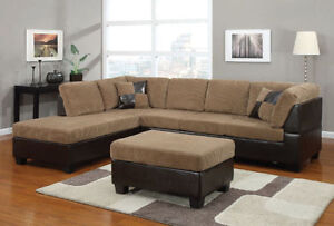 Deal Of the day Sectional with Ottoman Peterborough Peterborough Area image 7