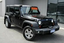 2012 Jeep Wrangler JK MY2013 Unlimited Rubicon Black 6 Speed Manual Softtop Osborne Park Stirling Area Preview