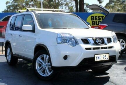 2012 Nissan X-Trail T31 ST White Constant Variable Wagon Blair Athol Campbelltown Area Preview