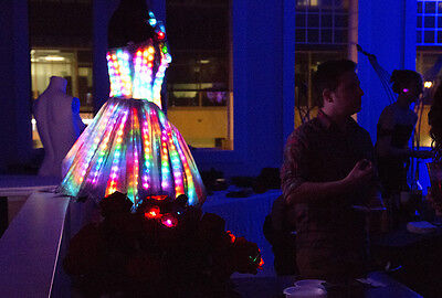 A Solarbotics dress catches the eye