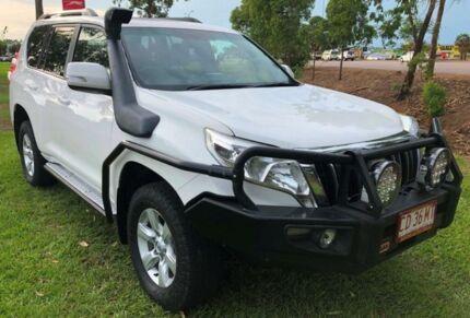 2015 Toyota Landcruiser Prado KDJ150R MY14 GXL White 6 Speed Manual Wagon Berrimah Darwin City Preview