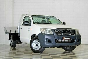 2012 Toyota Hilux TGN16R MY12 Workmate White 4 Speed Automatic Cab Chassis Burleigh Heads Gold Coast South Preview