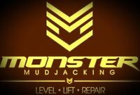 Monster Mudjacking 3 year warranty on every job