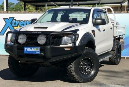 2012 Ford Ranger PX XL White Manual Cab Chassis Campbelltown Campbelltown Area Preview