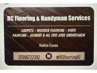 wooden flooring/carpet fitter/handy man available