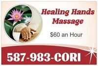 $60/hr MASSAGE ~ Couples & 4 Hands $120/hr~ DIRECT BILLING