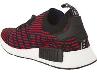 cheap for discount af32c 52f0b ADIDAS NMD R1 STLT PK BLACK RED BLUE PRIMEKNIT BOOST SHOES UK12 DEADSTOCK  NEW