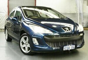 2008 Peugeot 308 T7 XSE Montebello Blue 6 Speed Sports Automatic Hatchback Myaree Melville Area Preview