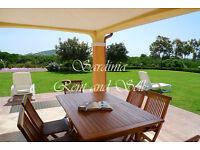 Sardinia, villa 6 sleeps, air conditioning, dishwasher, sky decoders, wide garden, near Chia beach