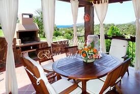 Sardinia, Chia, 8 sleeps, panoramic sea view, air conditioning, 100 meters from the sea