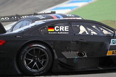 Motorsport Tourenwagen Aufkleber  für die hinteren Seitenscheiben