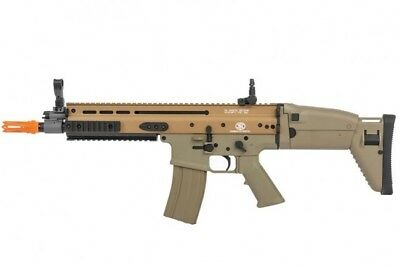 FN Herstal Full Metal SCAR-L AEG Electric Airsoft Gun by Cybergun - Tan 200955